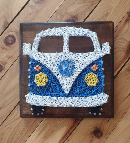 Volkswagen Combi String Art Wall Art Timber Sign Home Decor - Shazz Art