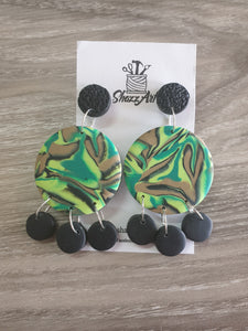 Large Jungle Print Statement Earrings
