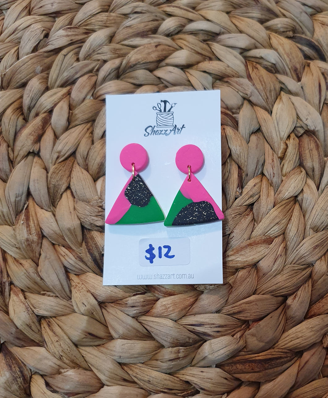 Retro Triangle Studs - Shazz Art