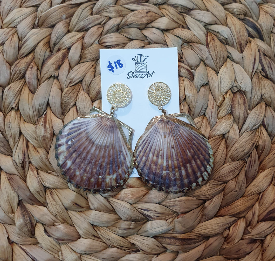 Seashell Earrings - Shazz Art