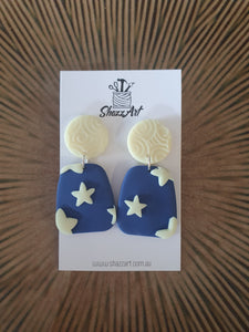 Glow in the dark star earrings - Shazz Art