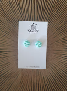 Twisted Texture Mini Studs - Shazz Art