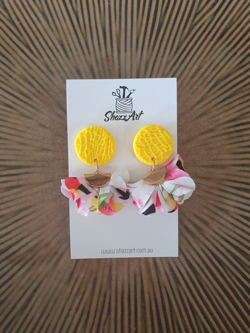 Yellow Tassel Earrings - Shazz Art