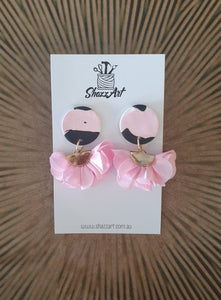 Pink Tassel Earrings - Shazz Art