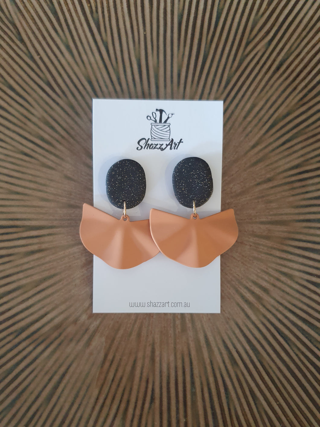 Black and Orange Metal Studs - Shazz Art