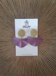 Metal Fan Tassel Studs - Shazz Art