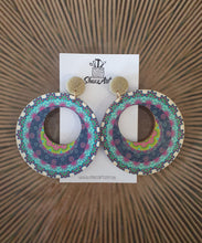 Load image into Gallery viewer, Boho Painted Timber Earrings - Shazz Art