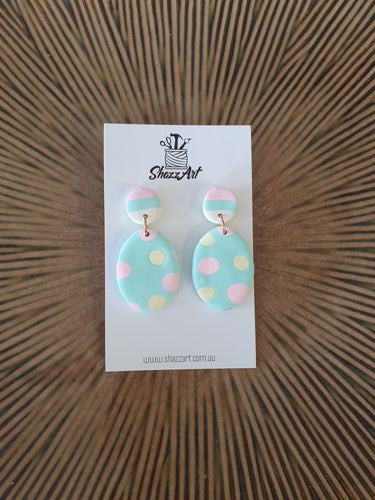 Pastel Oval Earrings - Shazz Art