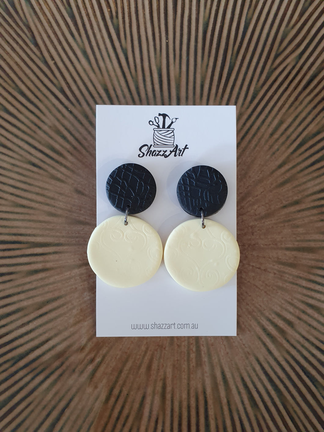 Pastel Yellow and Black Studs - Shazz Art