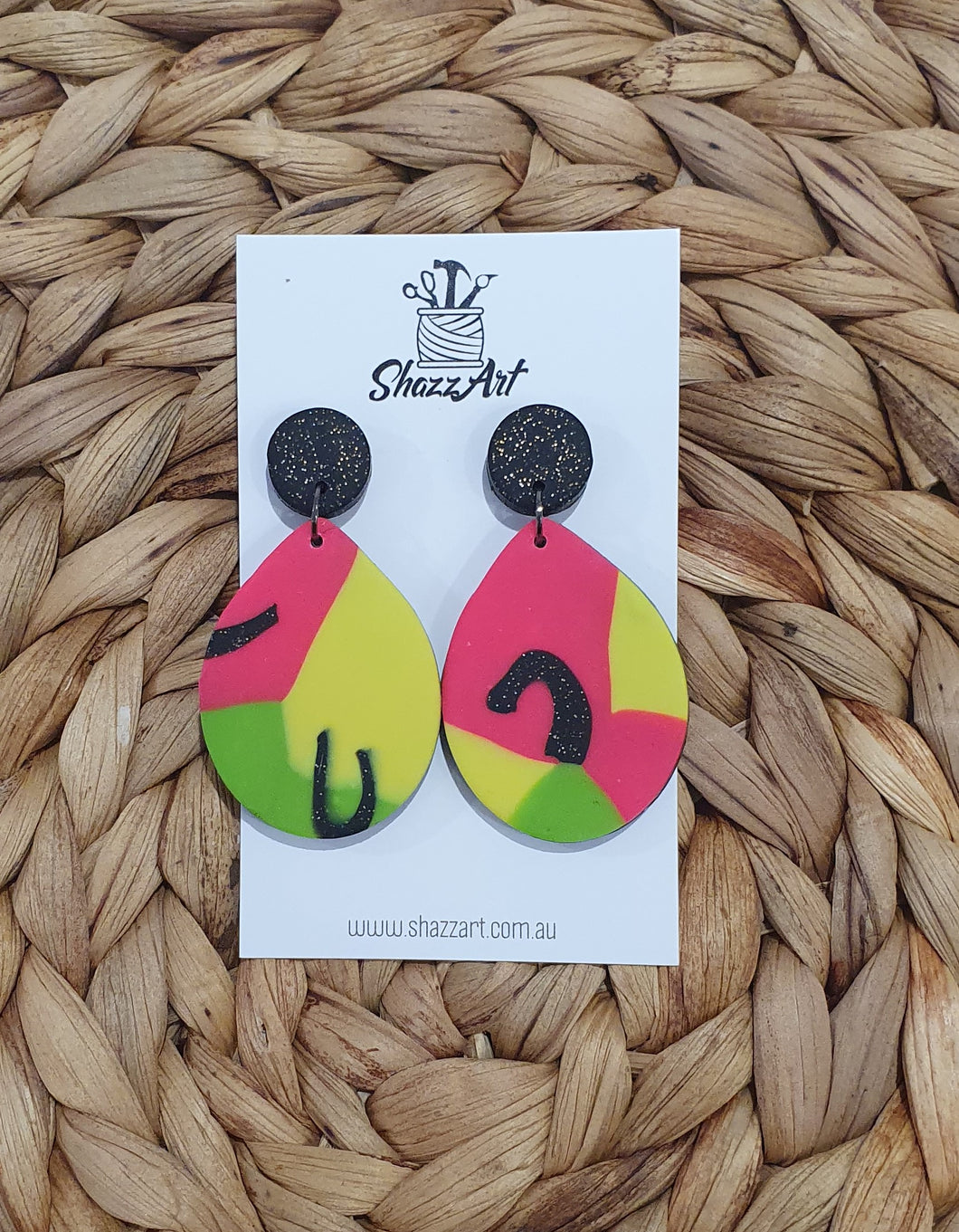 Bold Teardrop Studs - Shazz Art