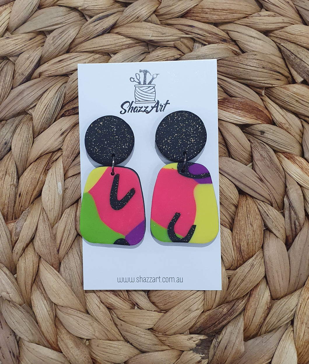Bold Pop Colour Statement Studs - Shazz Art