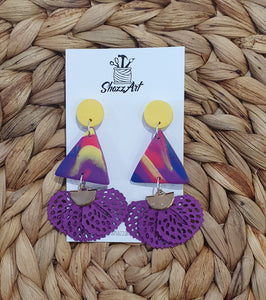 Colourful Tassel Dangle Studs - Shazz Art