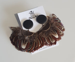 Feather Statement Studs