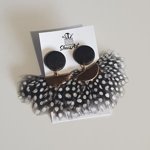 Feather Statement Studs - Shazz Art