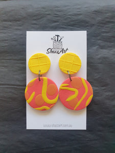 Sunset Stud Dangles - Shazz Art