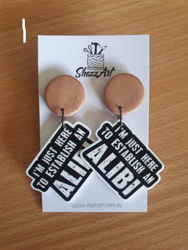 Alibi Resin Studs - Shazz Art