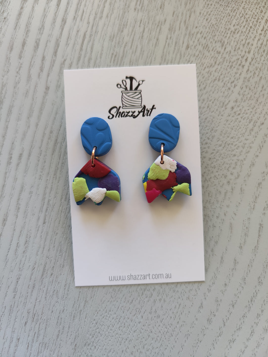 Mini Confetti Stud Dangles - Shazz Art