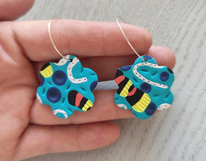 Snakes and Ladders Hoop Earrings - Shazz Art
