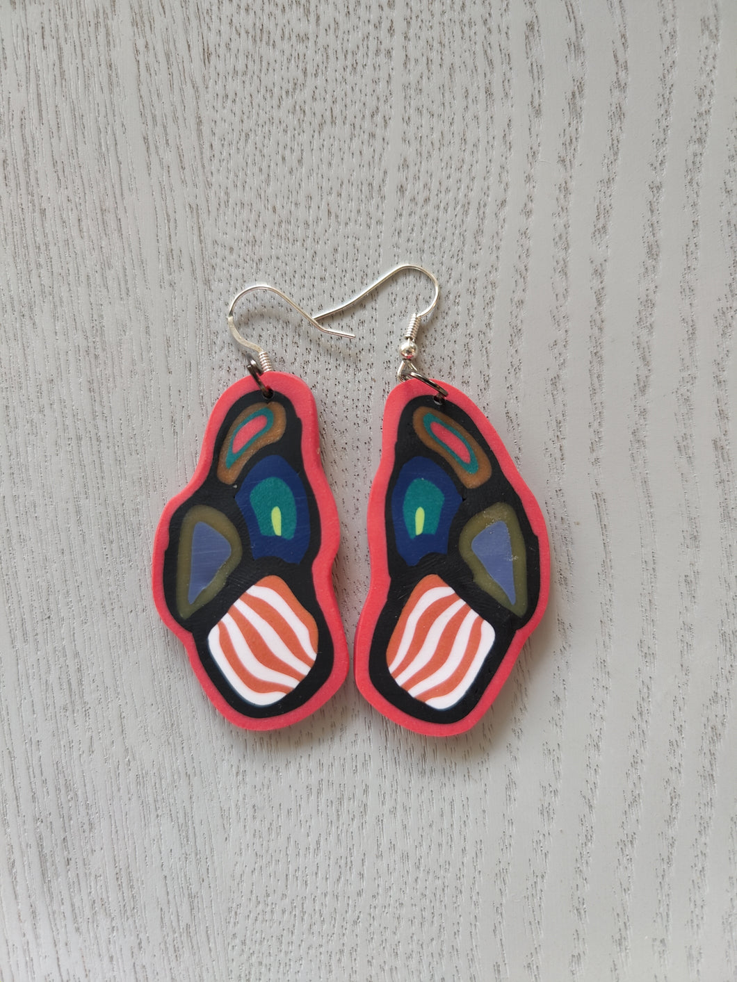 Contemporary Cane Parrot Earrings - Shazz Art