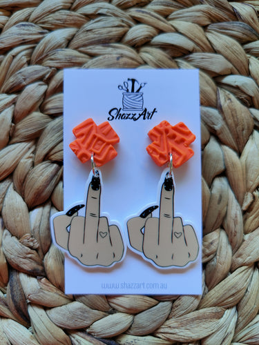 Flipping the Bird Earrings