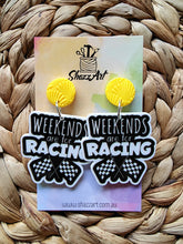 Load image into Gallery viewer, Weekends are for Racing Earrings