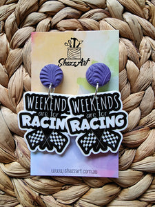 Weekends are for Racing Earrings