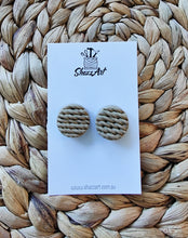 Load image into Gallery viewer, Twisted Pattern Jumbo Studs - Shazz Art