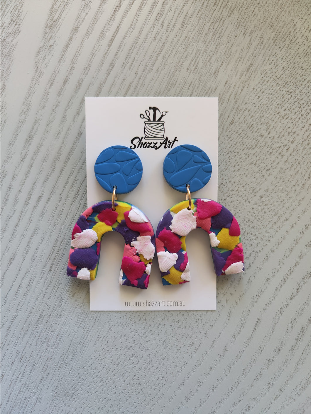 Confetti Large Arch Studs - Shazz Art