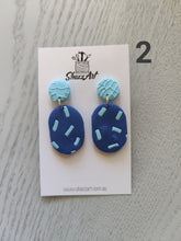 Load image into Gallery viewer, Blue Hues Earrings - Shazz Art