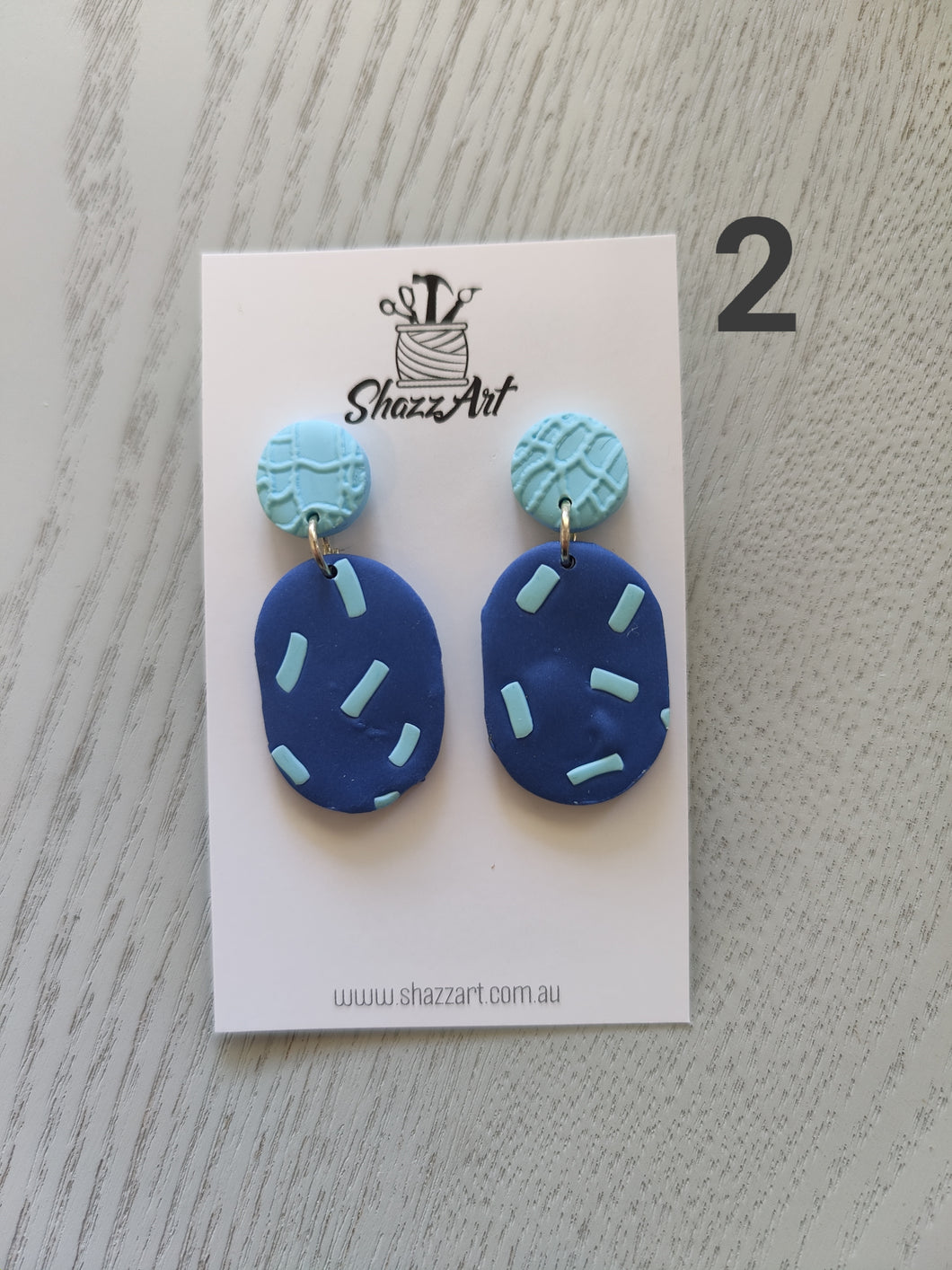 Blue Hues Earrings - Shazz Art