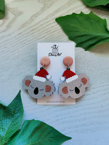 Christmas Koala Statement Earrings