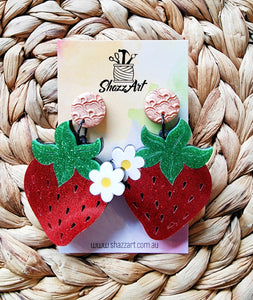 Large Strawberry Statement Earrings