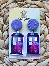 Load image into Gallery viewer, Tardis Earrings