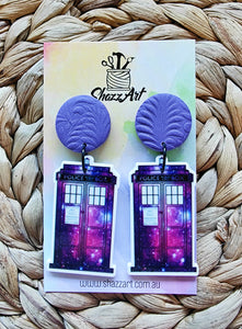 Tardis Earrings
