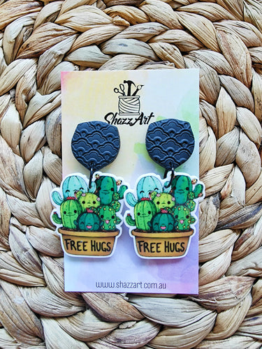 Free Hugs Cacti Earrings