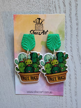 Load image into Gallery viewer, Free Hugs Cacti Earrings