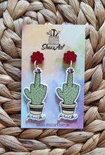 Load image into Gallery viewer, Cactus Finger Earrings
