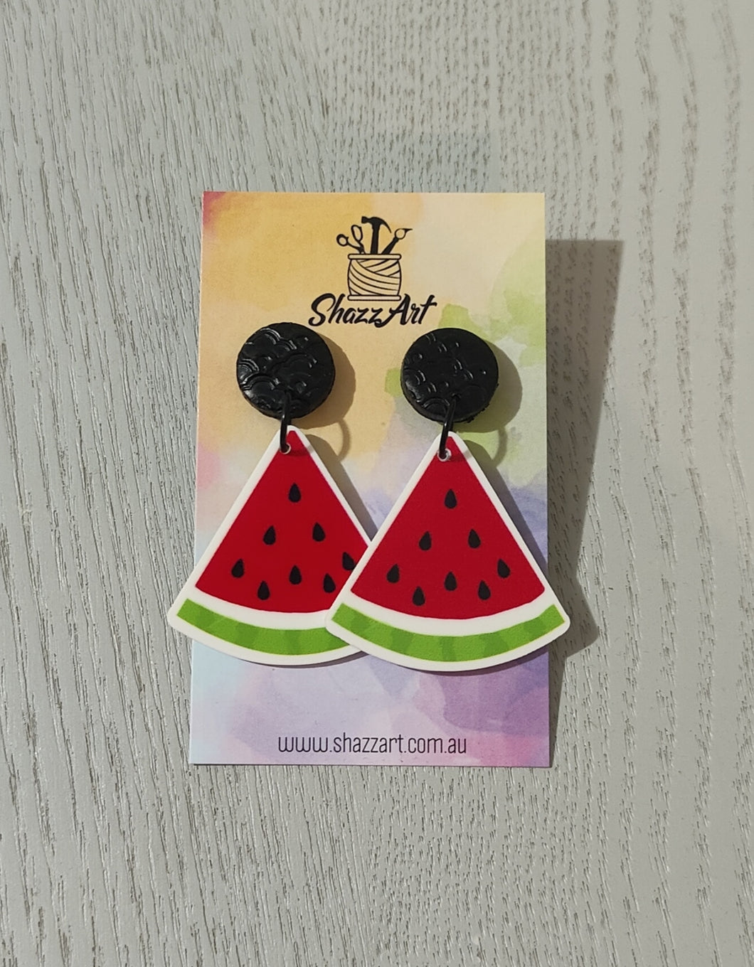 Watermelon Resin Studs