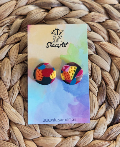 Multicoloured Jumbo Studs