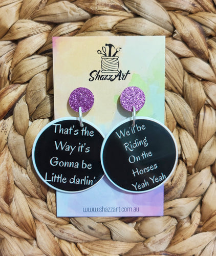 The Horses Lyric Earrings
