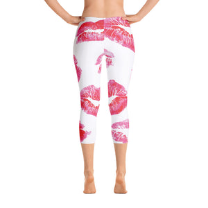 Pucker Up Capri Yoga Pants