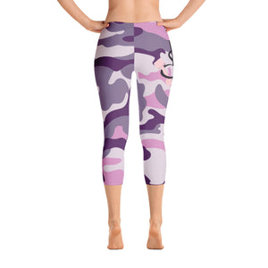 Buff Beauty Purple Capri Yoga Pants
