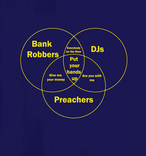 Bank-Robbers, DJs, Preachers T-Shirt