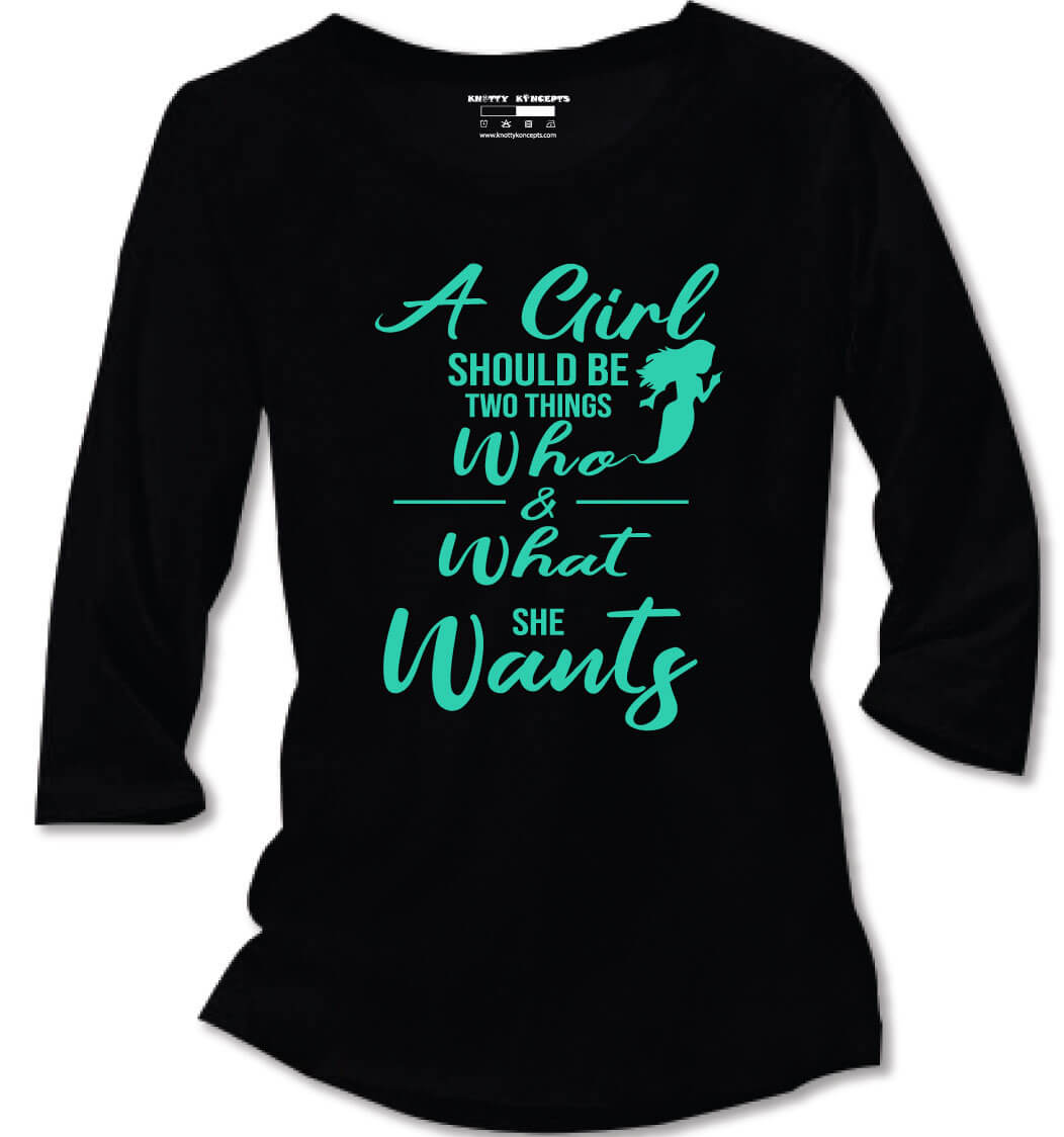 A Girl Can Be What She Wants T-Shirt