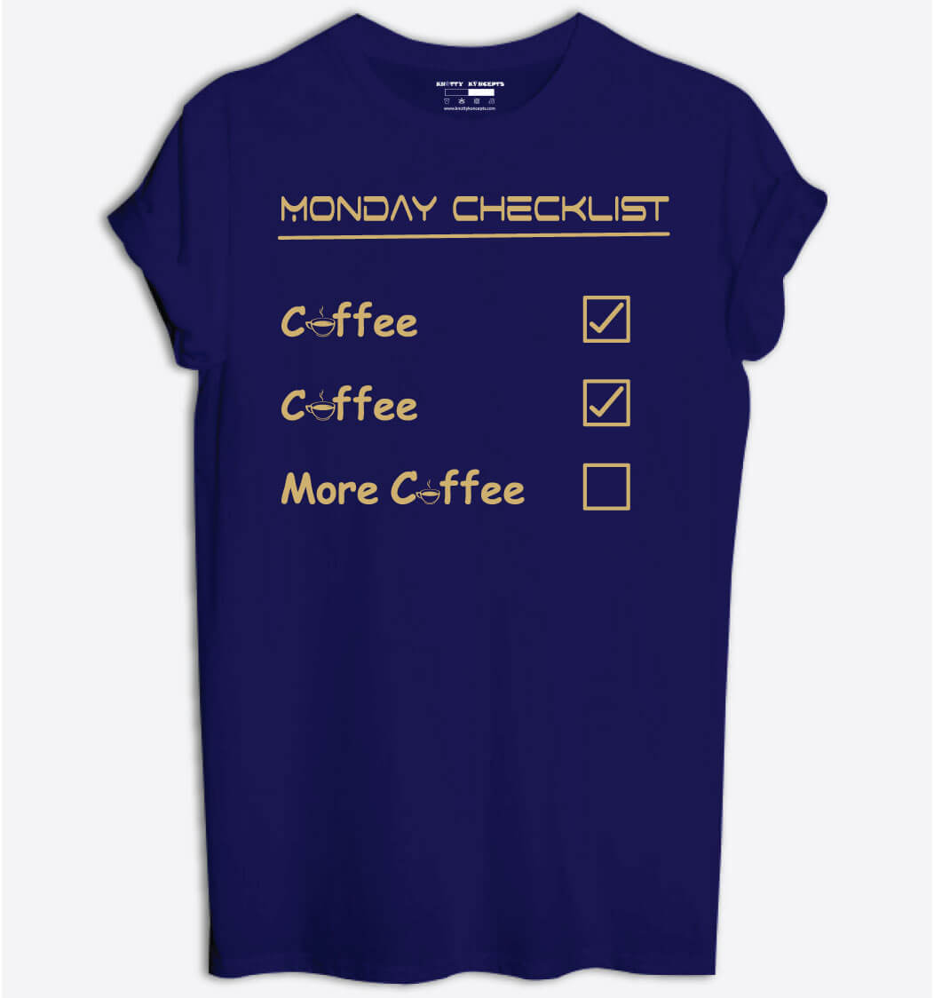 Monday Checklist T-Shirt