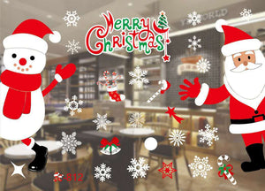 Christmas Decorations Removable Window Stickers (6 pcs)