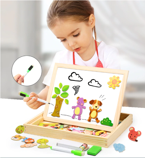 Magnetic Puzzle and Drawing Board (GREAT CHRISTMAS GIFT!!)