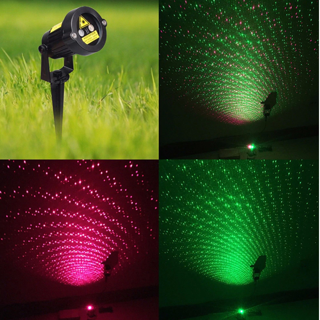 Christmas Laser Lights Twinkling Star Projector