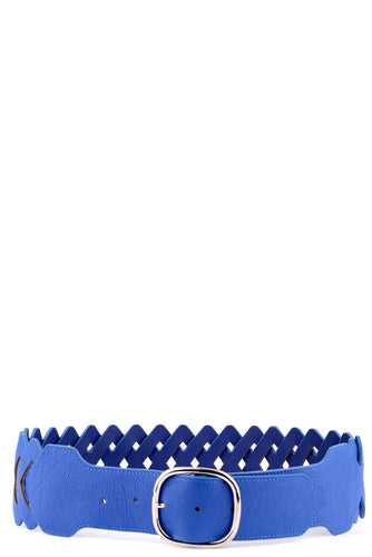Faux Leather Zig Zag Belt