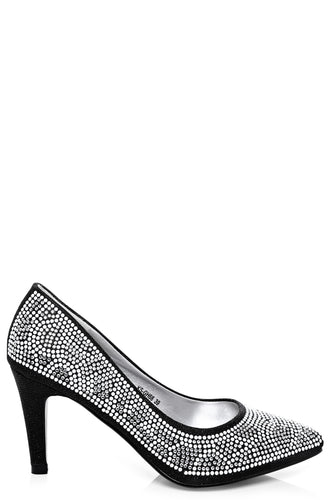 Diamante Embellished High Heel Shoes